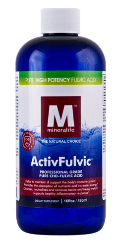 ActivFulvic Mineralife Liquid Ionic CHD Fulvic Acid Bottle Shot