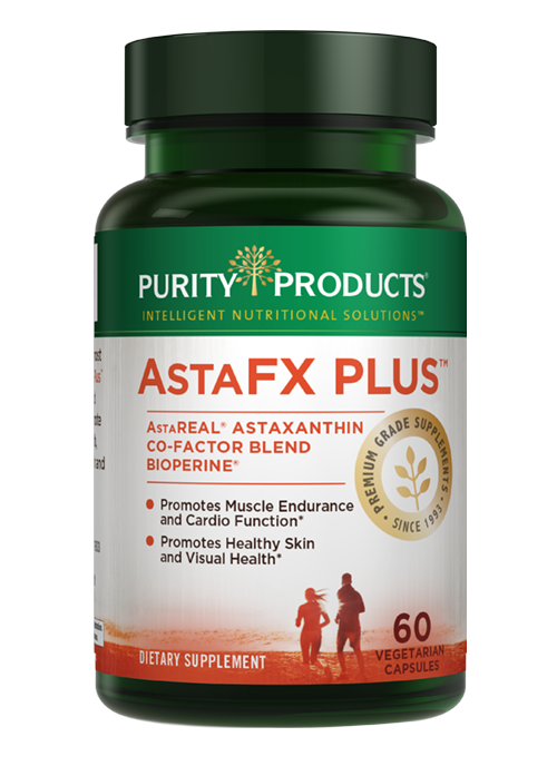 AstaFX Plus Astaxanthin Antioxidant Super Formula by Purity Products Bottle Shot