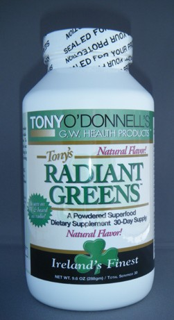 Radiant Greens Natural: Organic Superfood by Tony O'Donnell Bottle Shot